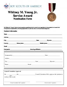 Whitney M. Young Jr. Service Award - Boy Scouts of America