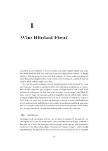 Who Blinked First? - David Bordwell
