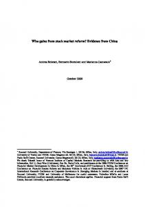 Who gains from stock market reform? Evidence