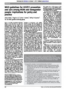 WHO guidelines for HIV/STI prevention and care among ... - iessdeh