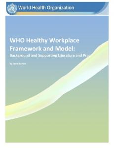 WHO Healthy Workplace Framework and Model: Background