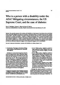 Who is a person with a disability under the ADA ... - IOS Press