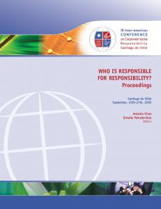 WHO IS RESPONSIBLE FOR RESPONSIBILITY ... - Cumpetere