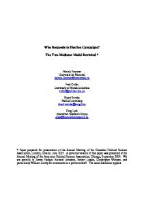 Who Responds to Election Campaigns? The Two-Mediator Model ...