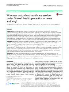 Who uses outpatient healthcare services under Ghana's health ...