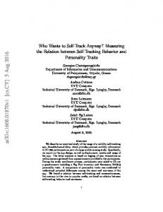 Who Wants to Self-Track Anyway? Measuring the Relation between ...