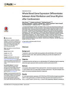Whole Blood Gene Expression Differentiates ... - Semantic Scholar