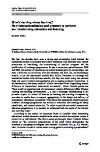 Who's learning whose learning? How ... - Springer Link