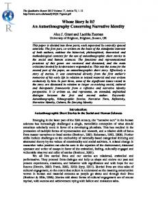 Whose Story Is It? An Autoethnography Concerning Narrative Identity.