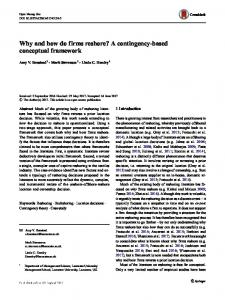 Why and how do firms reshore? A contingency-based ...