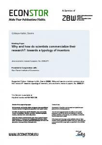 Why and How Do University Researchers ...