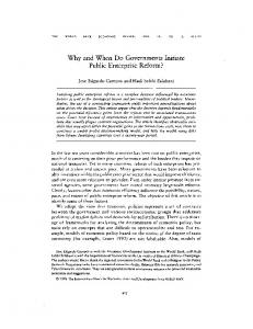 Why and When Do Governments Initiate Public ... - Oxford Journals