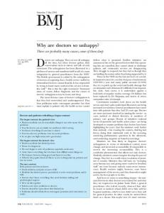Why are doctors so unhappy? - The BMJ