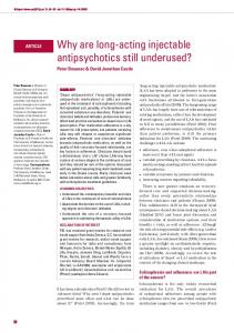 Why are long-acting injectable antipsychotics still ... - BJPsych Advances