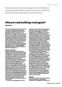 Why are most buildings rectangular? - UCL Discovery
