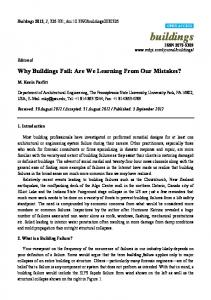 Why Buildings Fail - MDPI
