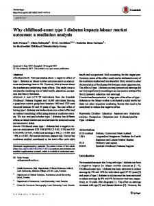 Why childhood-onset type 1 diabetes impacts labour ... - Springer Link