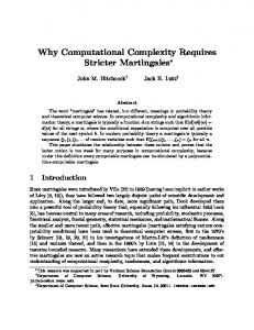 Why Computational Complexity Requires Stricter ... - CiteSeerX