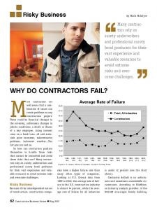 Why Do ContRaCtoRs Fail? - Surety Information Office