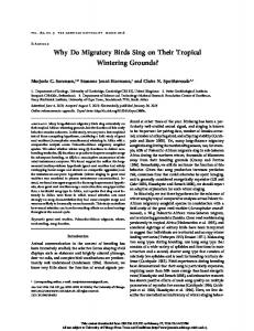 Why Do Migratory Birds Sing on Their Tropical ...