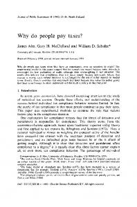 Why do people pay taxes? - ScienceDirect