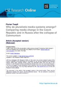 Why do pluralistic media systems emerge? Comparing media change ...