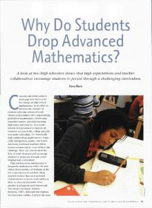Why Do Students Drop Advanced Mathematics? - Reinventing ...