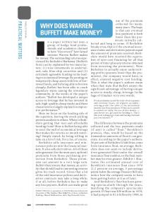WHY DOES WARREN BUFFETT MAKE MONEY?