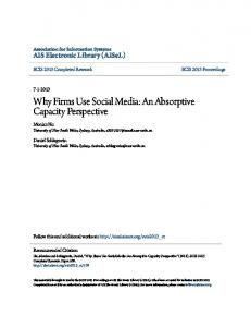 Why Firms Use Social Media: An Absorptive Capacity ...