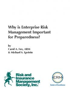 Why is ERM Important for Preparedness? - RIMS