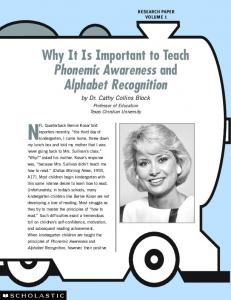 Why It Is Important to Teach Phonemic Awareness - Scholastic