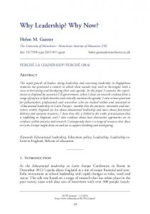 Why Leadership? Why Now? - Led on Line