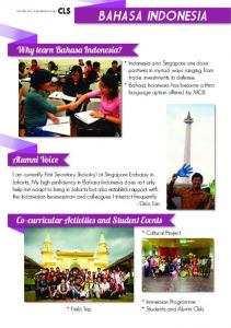 Why learn Bahasa Indonesia?