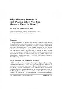 Why Measure Steroids in Fish Plasma When You Can Measure Them ...