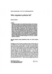 Why migration policies fail