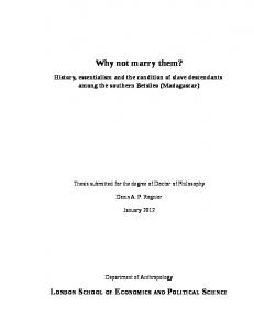 Why not marry them? - LSE Theses Online