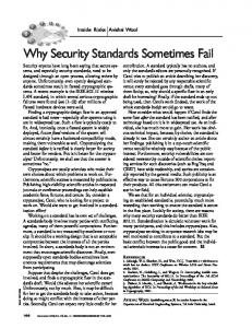 Why Security Standards Sometimes Fail