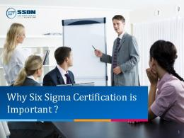 Why Six Sigma Certification is Important?