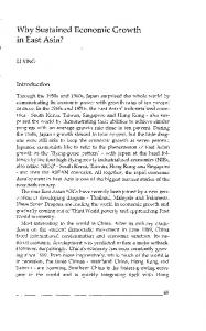 Why Sustained Economic Growth in East Asia? - CBS Open Journals