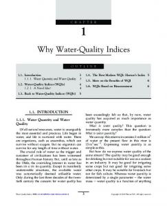 Why Water-Quality Indices