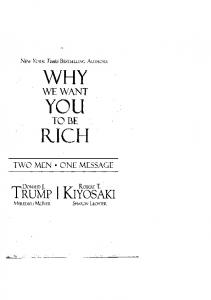Why We Want You To Be Rich - Donald Trump ... - QuBranx.com