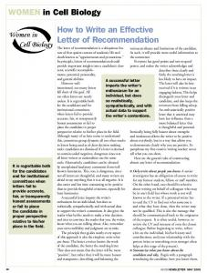 WICB - How to Write an Effective Letter of Recommendation