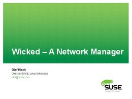 Wicked - A Network Manager