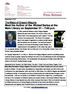 Wicked Author - 2 - The Public Library of Cincinnati and Hamilton ...