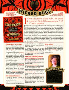 Wicked Bugs Fact Sheet