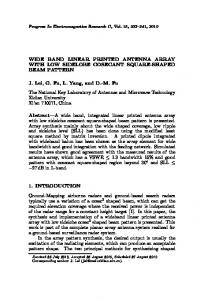 WIDE BAND LINEAR PRINTED ANTENNA ARRAY WITH LOW ...
