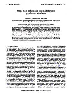 Wide-field schematic eye models with gradient-index ... - OSA Publishing