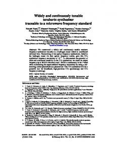 Widely and continuously tunable terahertz ... - OSA Publishing