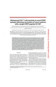 Widespread CD4+ T-cell reactivity to novel hTERT epitopes following ...
