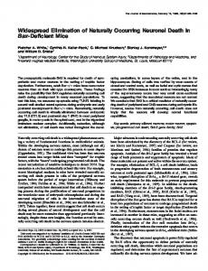 Widespread Elimination of Naturally Occurring ... - Semantic Scholar